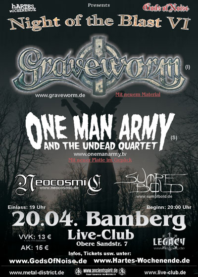 One Man Army Live @ Bamberg